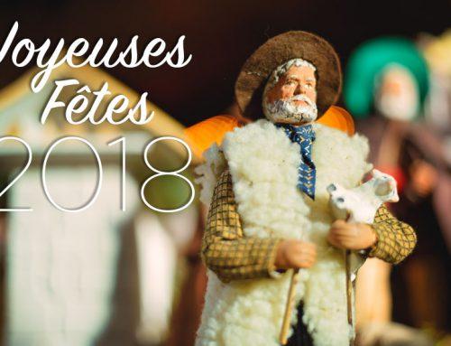 Nous vous souhaitons de belles fêtes de fin d'année 2018